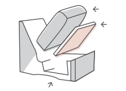 Image diagram of replaced damaged furniture parts.