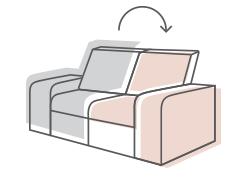 Image diagram of changeable furniture fabric styles.