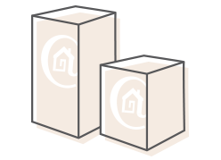 Image diagram of Home Reserve UPS shipping boxes.