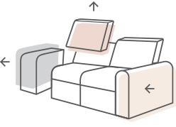Image diagram of changeable furniture styles.